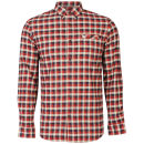 Farah 1920 Men's Gower Long Sleeve Shirt - Red Chilli