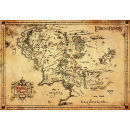 Lord Of The Rings Parchment Map - 47 x 67cm