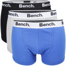 Bench Men's 3-Pack Basic Boxers - Black/Grey/Blue