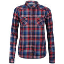 UCLA Womens Sutton Check Shirt - Red/Black