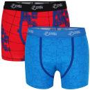 Joystick Junkies Men's Two Pack Boxers - Red Pattern / Blue