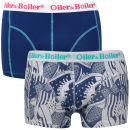 Oiler & Boiler Men's 2 - Pack Printed Boxers  - Blue Baseball Boot