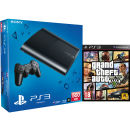 PS3: New Sony PlayStation 3 Slim Console (500 GB) - Black - Includes Grand Theft Auto 5