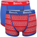 Bench Men's 2-Pack Aztec Printed Fashion Boxers - Red