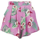 LOVE Women's Floral Shorts - Pink