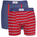 Original Penguin Men's 2-Pack Trunks - Red Stripe/Blue