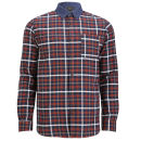 Jack & Jones Premium Men's Jason Checked Shirt - White/Navy Checked