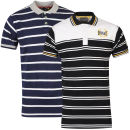 Everlast Men's 2-Pack Striped Polo Shirts - Navy/Black
