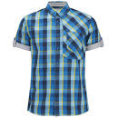 Bench Men's Short Sleeve Checked Urbitz Shirt - Seaport