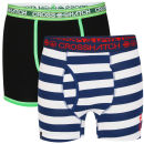 Crosshatch Men's 2-pack Boxers - Black/Pink