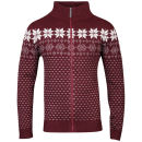 Brave Soul Men's Ricardo Zip Through Jumper - Bordeaux
