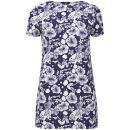 Glamorous Women's Flower Print Dress - Blue