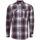 Jack & Jones Men's Long Sleeve Check Load Shirt - Port