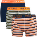 Jack & Jones Men's Laomi 3-Pack Boxers - Orange