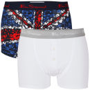 Ben Sherman Men's 2-Pack Boxer Shorts - White/Red