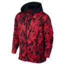 Nike Men's KO Print Full Zip Hoody - Red
