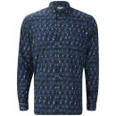 Farah 1920s Men's Darwell Long Sleeve Shirt - Indigo