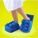 ThinkGeek Building Brick Slippers - Blue