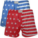 Oiler & Boiler Men's Daytona 2 Pack Boxer - Stars & Stripes