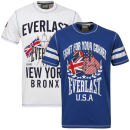 Pack de 2 Camisetas Everlast para Hombre - Blanco/Royal