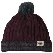 Tokyo Laundry Men's Baber Tipped Bobble Hat - Oxblood/Green Gables
