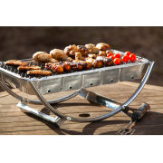 Asado Dual Barbeque Stand - Silver