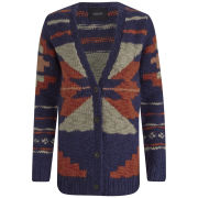 Maison Scotch Women's Aztec Chunky Cardigan - Navy Multi
