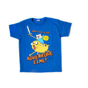 Adventure Time Kids' T-Shirt - Jake And Finn - Blue