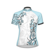 Primal Women's Petal Short Sleeve Jersey - White/Blue/Black
