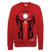 Marvel Avengers Assemble Iron Man Chest Burst Men's Sweatshirt - Red
