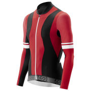 Skins Cycle Long Sleeve Jersey - Tremola - Red/Black/White