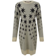 Matthew Williamson Women's Star Jacquard Knitted Sweatshirt Dress - Grey