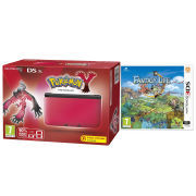 Nintendo 3DS XL Red and Black Console - Includes Pokemon Y & Fantasy Life