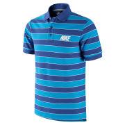 Nike Men's Match-Up Striped Polo Shirt - Blue