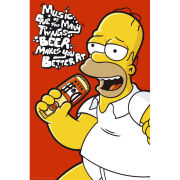 The Simpsons Homer Music - Maxi Poster - 61 x 91.5cm