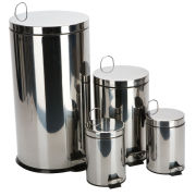 Set of 4 Chrome Finish Pedal Bins