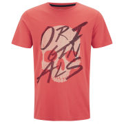 Jack & Jones Men's Saturday T-Shirt - Spiced Coral