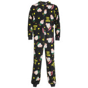 Family Guy Men's Pete Printed Onesie - Black