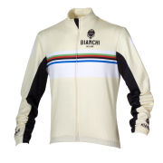 Bianchi Men's Saldura Long Sleeve Full Zip Jersey - Cream/White