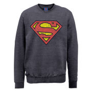 DC Comics Sweatshirt - Superman Shield Crackle - Steel Grey