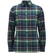 Barbour International Women's Iris Checked Shirt - Green Check