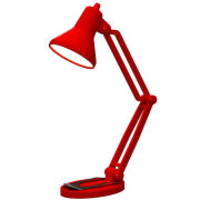 Mini Retro Style Desk Lamp Book Light - Red