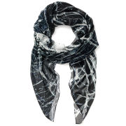 Jane Carr The Bullet Square Silk Chiffon Scarf - Ink