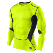 Nike Men's Hypercool Compression Long Sleeve Top 2.0 - Volt Green/Black