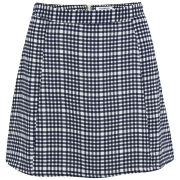 Glamorous Women's Coordinating Check Skirt - Blue