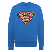 DC Comics Sweatshirt - Superman Cells Logo - Royal Blue