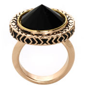 House of Harlow Scry Stone Cocktail Ring - Gold/Black