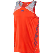adidas Men's Adizero Singlet - Infrared/Blast Purple