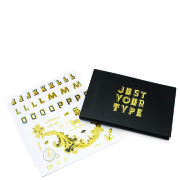 "Goldfolien Stickerset ""Just Your Type"""