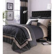 Catherine Lansfield Luxury Geo Throw - Black (240x260cm)